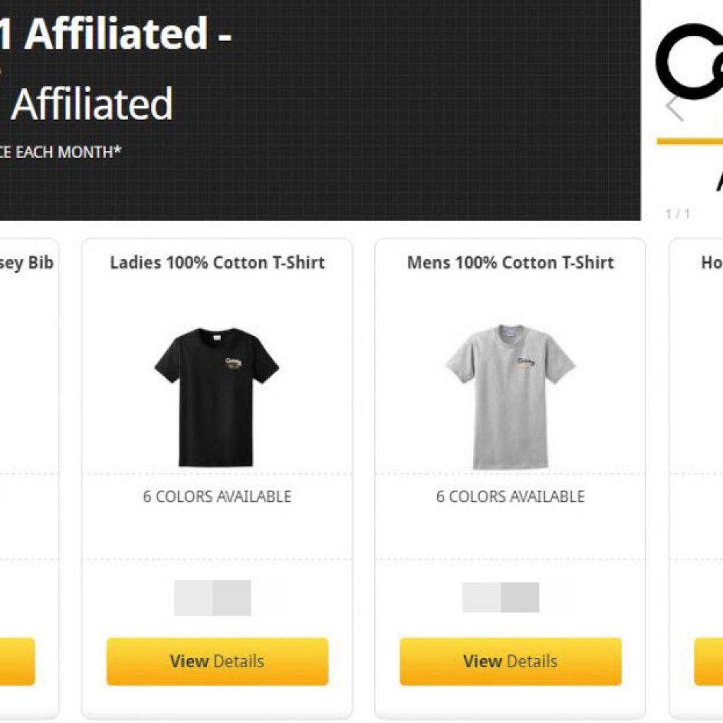 Century 21 corporate web store apparel